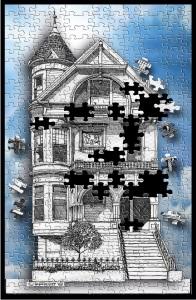 Puzzle piece house